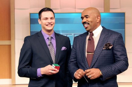 Magician Steven Brundage with Steve Harvey