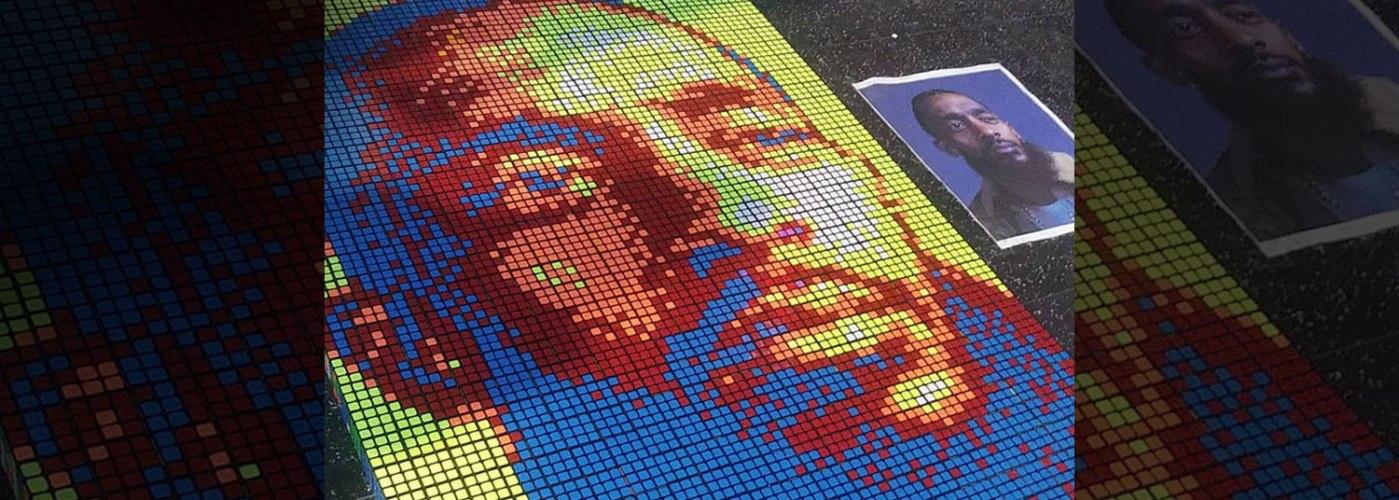 Rubik's Cube Mosaic Art