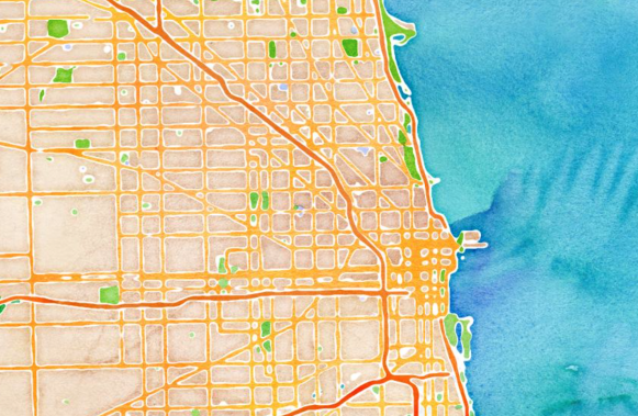 Example 1 of how to use OpenStreetMap. Instead of publishing a screenshot of Google Maps in your documents or website, create a custom design map like this without having to spend so much time tweaking it in Illustrator. This map was created by Stamen Design using TileMill.