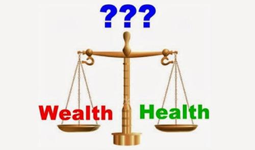 Resultado de imagen para health vs. wealth images
