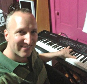 Steven Cravis at the Roland RD-700 NX keyboard