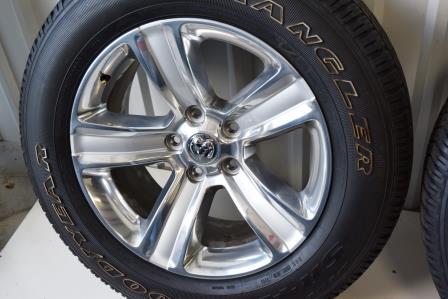 Dodge Ram 1500 20 Inch Polish Wheels Tires Package oem factory