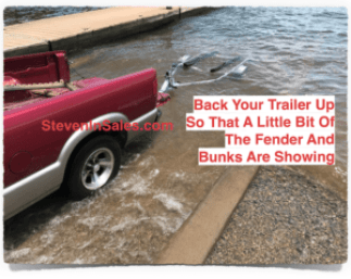 how to back a jet ski trailer up and stop docking ramp