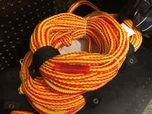 jet ski tow rope orange for towable tubes