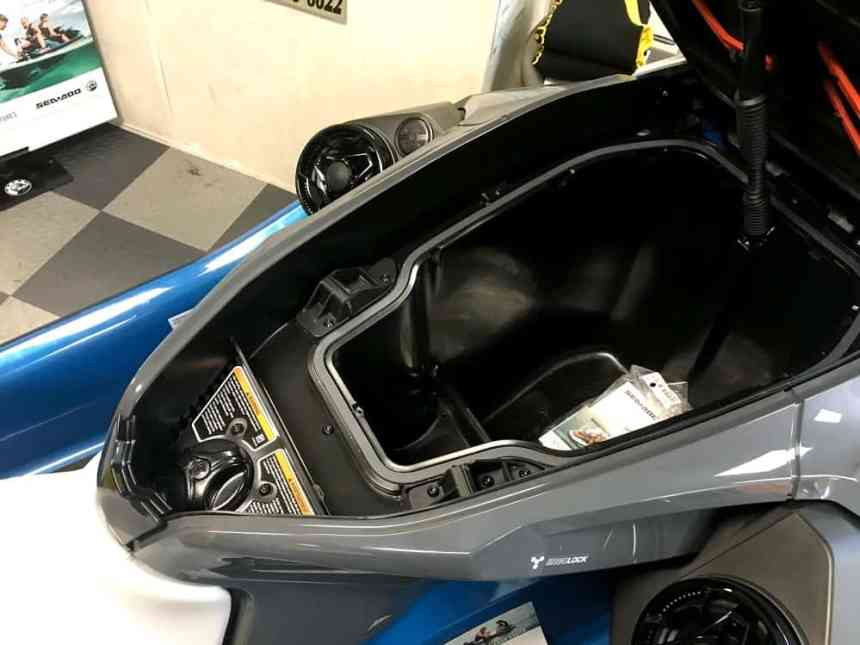 Sea-Doo GTX front storage compartment