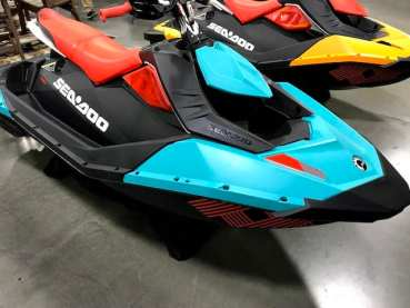 blue orange spark beginner jet ski