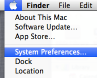 Open System Preferences