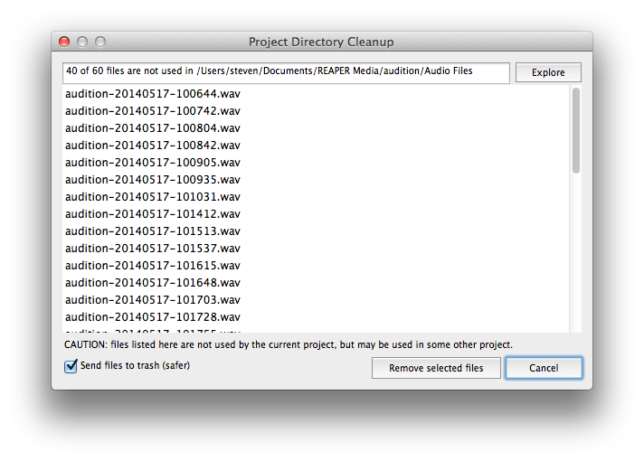 Spring Cleaning Reaper Style – Managing Old Files – Steven