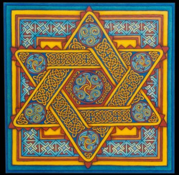 Star of David. 20in x 20inOil on canvas