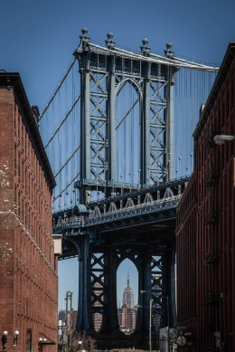 Manhattan Bridge from Front Street, Brooklyn, New York 2