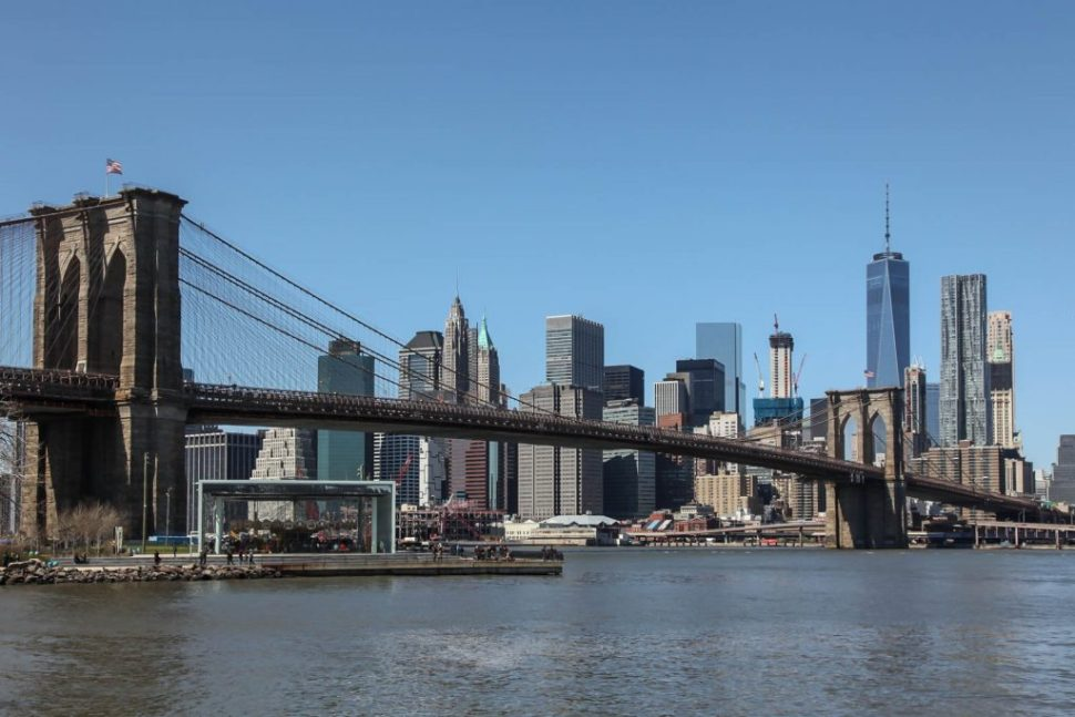 Manhattan and Brooklyn Bridge from Plymouth Street, Brooklyn