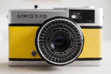 Yellow Olympus Trip 35