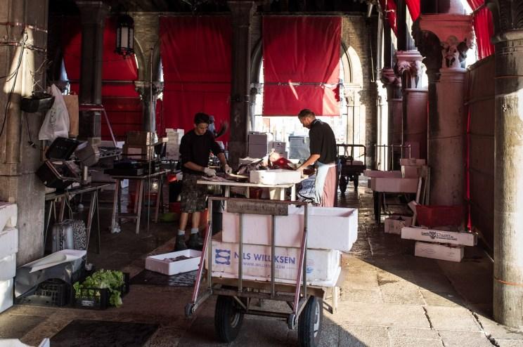 Fishmongers #2, Venice Fish Market