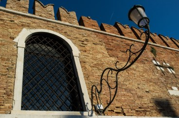 Intricate brickwork and ironwork at Venetian Arsenal, Arsenale d