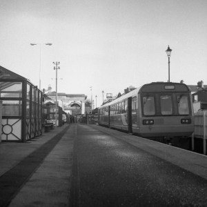 Saltburn Railway Station, Saltburn-by-the-Sea. Yashica 124G, Ilford FP4+
