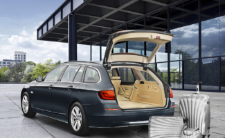 Automotive photography of BMW 5 Series Wagon