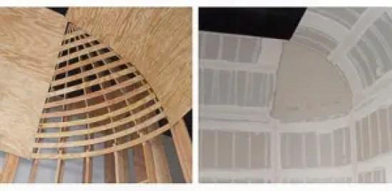 studio cyc wall wood radius corner