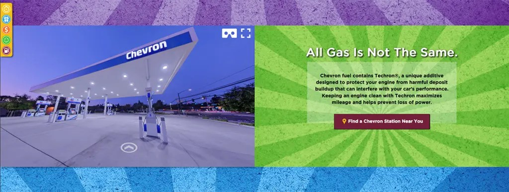 360 virtual tour of chevron gas station