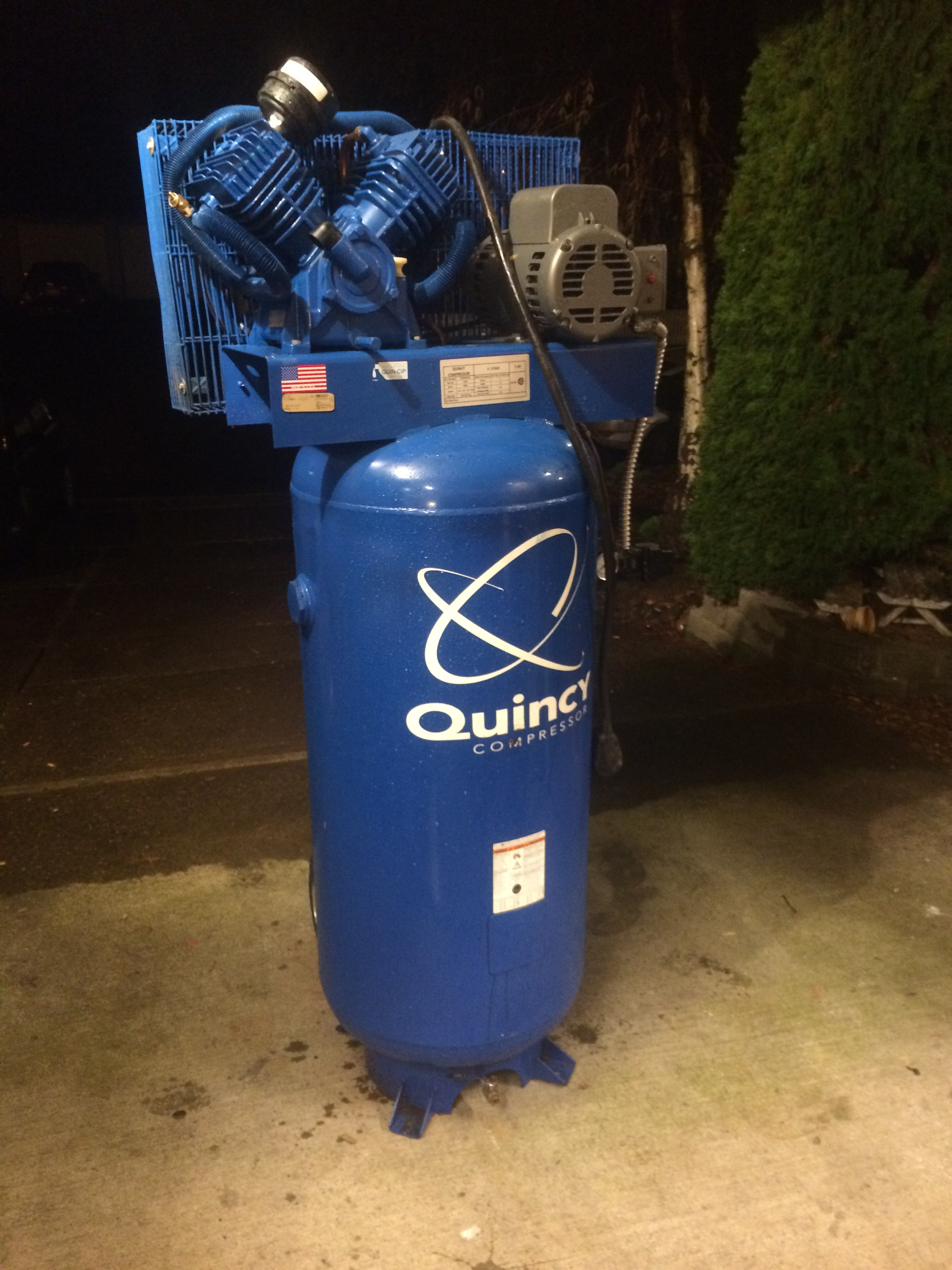More Blue In The Shop Quincy Qt 54 Air Compressor The