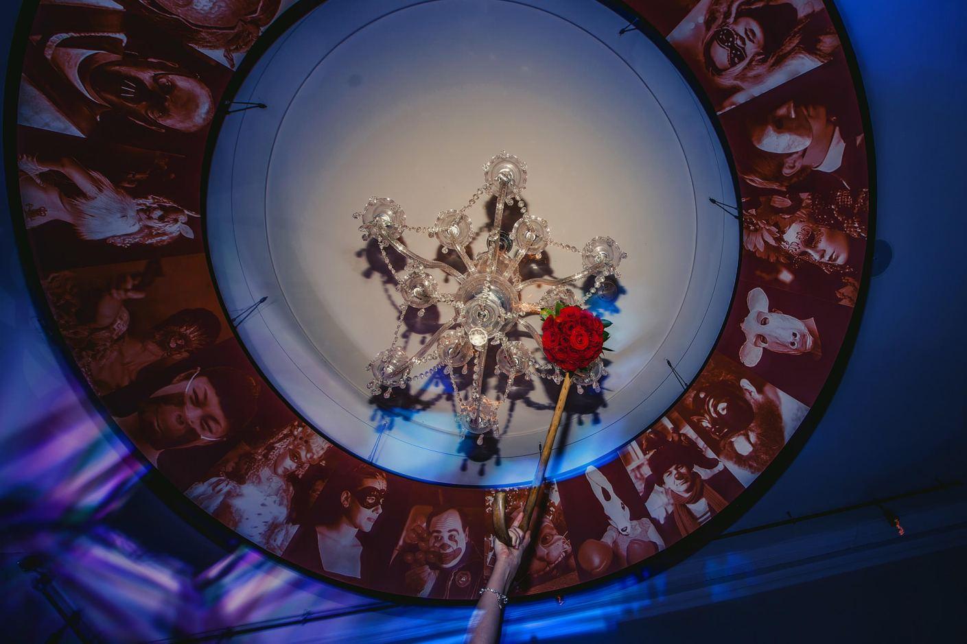 stuck in the chandelier