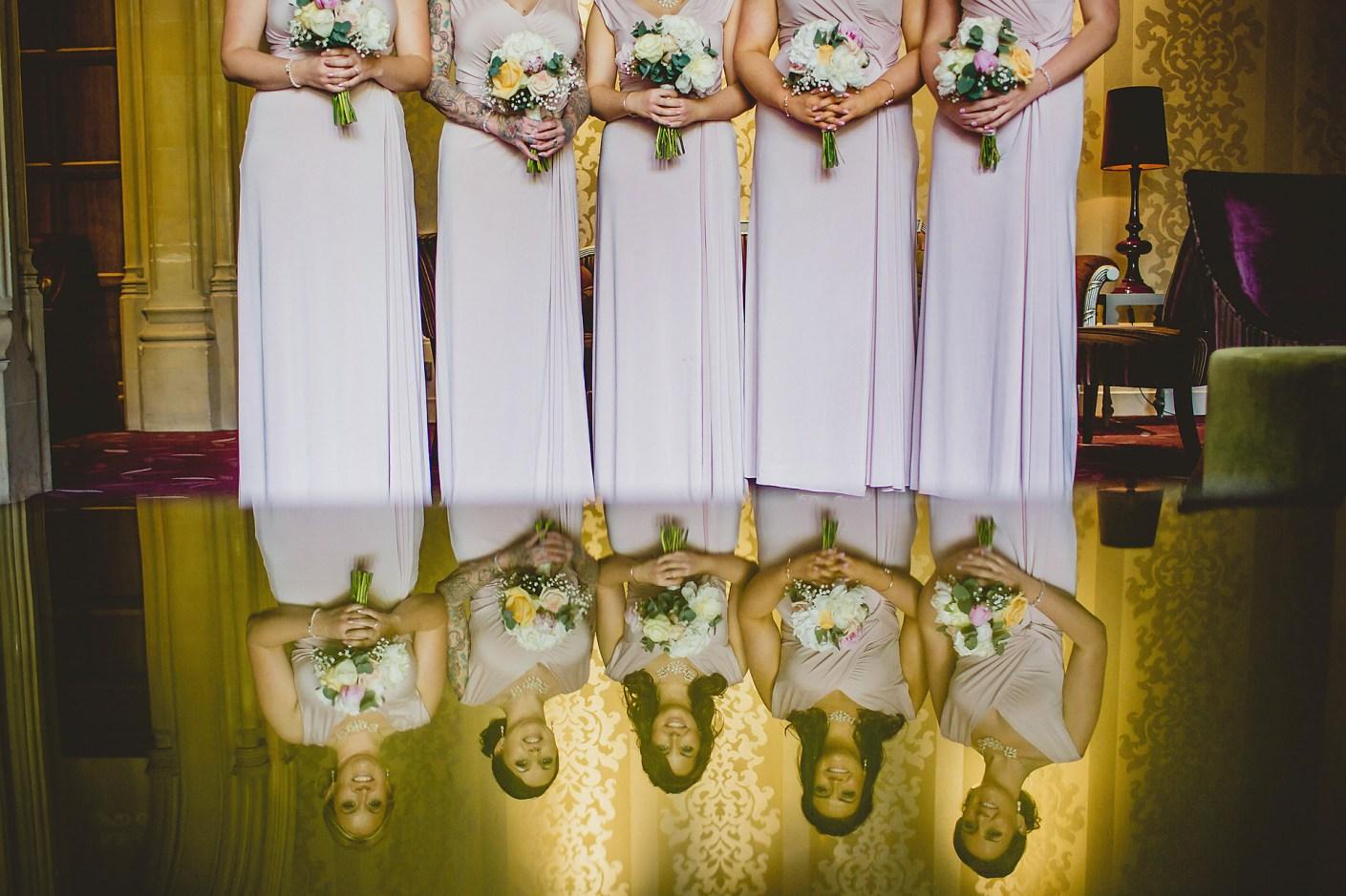 bridesmaids reflection