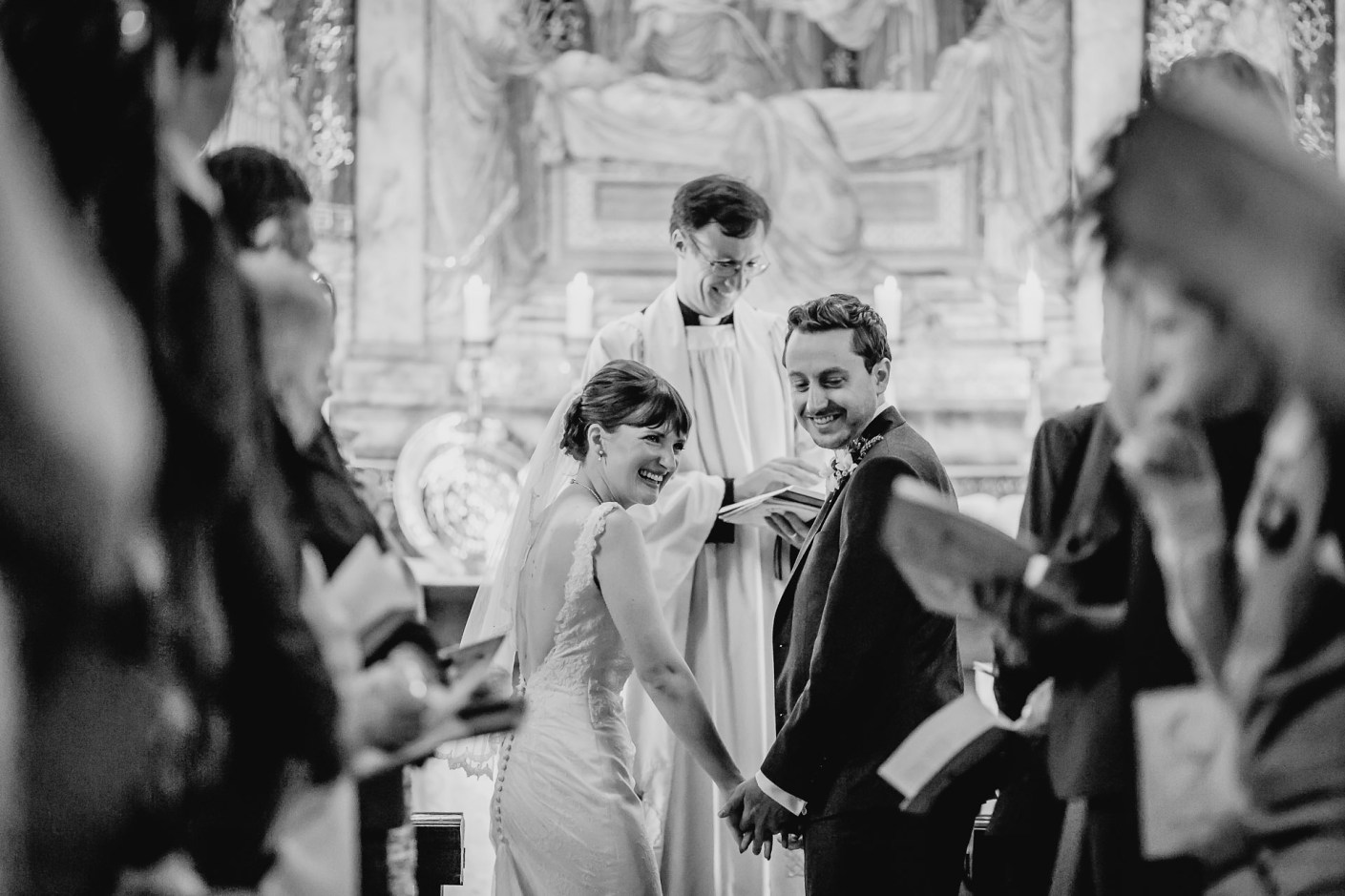 laughter in the chapel - capesthorne hall wedding photos