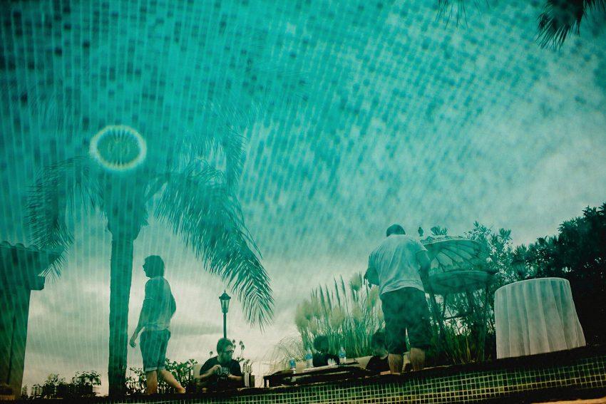 reflection in swimming pool, casa de laila