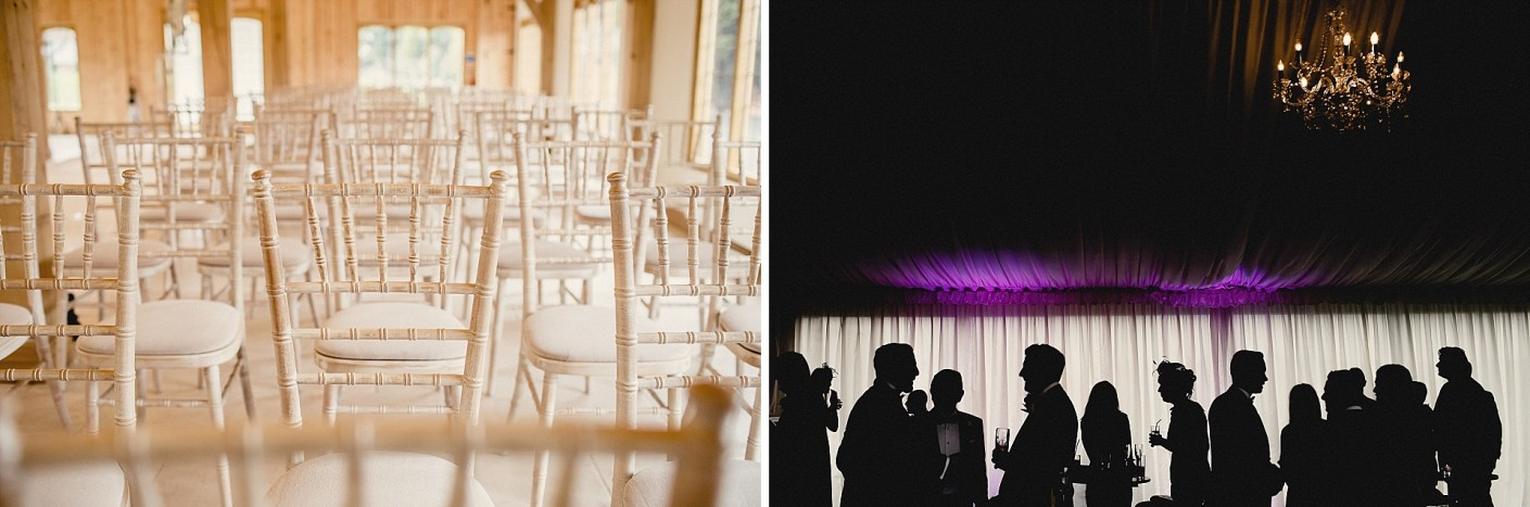 photo of chairs and guests at the wedding