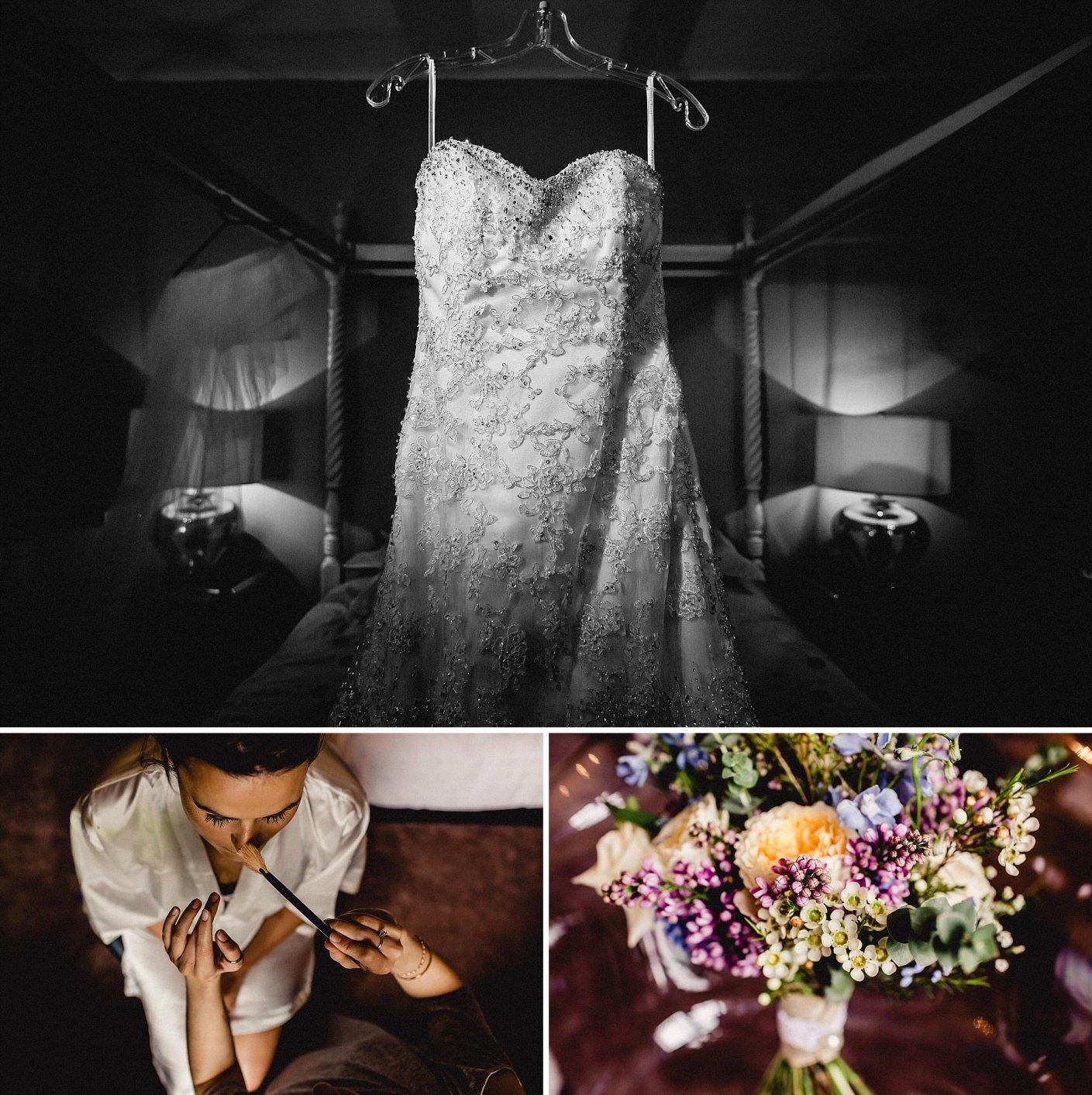photos, wedding dress, and flowers, boquets