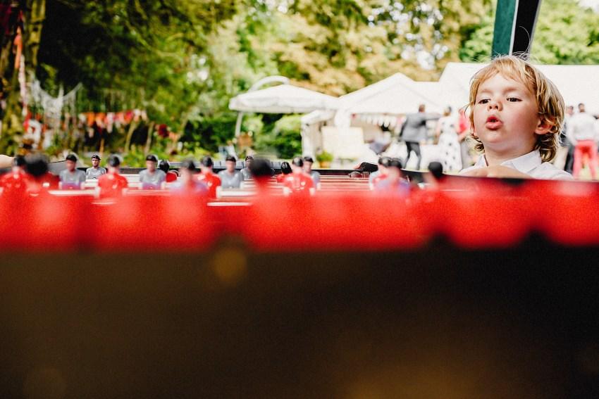 table football at a wedding