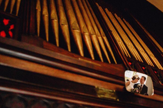 church organ and miror