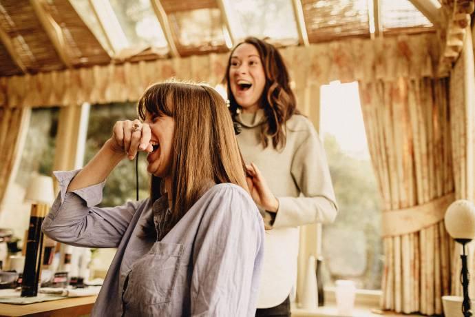 hairdressing at wedding