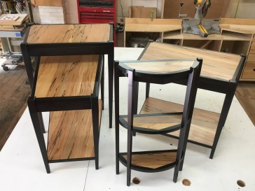 veneered side tables