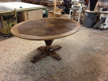 Sunburst Veneer Table