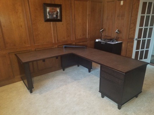Custom L shaped desk
