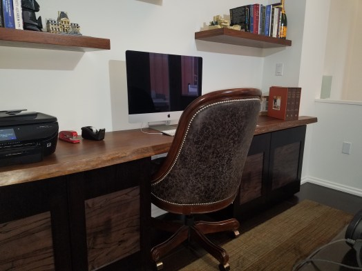 Custom Walnut Desk and cabinets