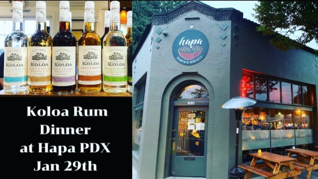 Koloa Rum Dinner at Hapa PDX by Steven Shomler
