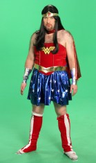 Rob Thielke as a Super Heroine