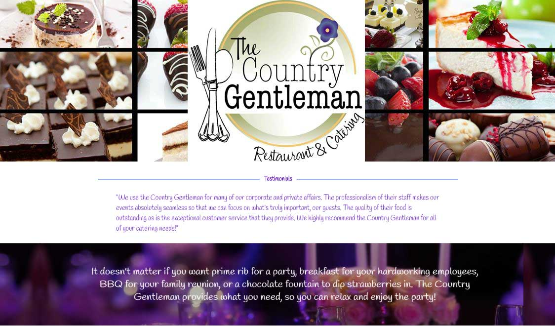 Country Gentleman website design in Tri-Cities