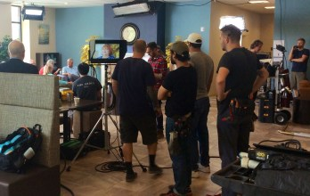 Behind the scenes of a TV commercial