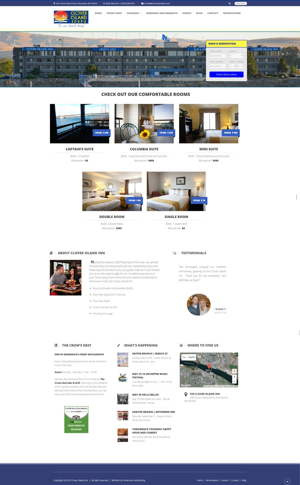 Clover Island Inn Website