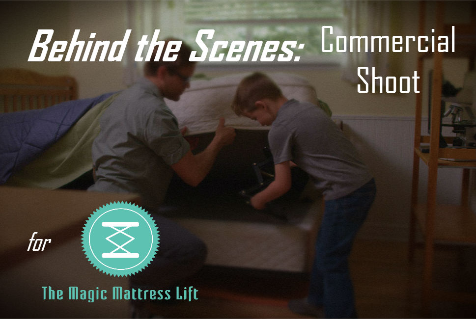 magic mattress lift commercial shoot behind the scenes