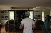 magic mattress lift commercial shoot camera