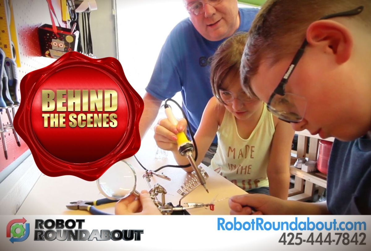 robot roundabout commercial shoot behind scenes