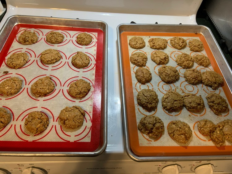Cookes on a tray