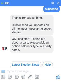 LBC Election Bot