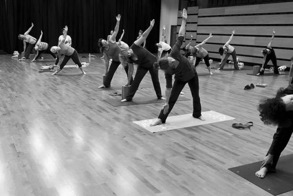black white yoga