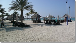 The Beach at our Hotel in Dubai