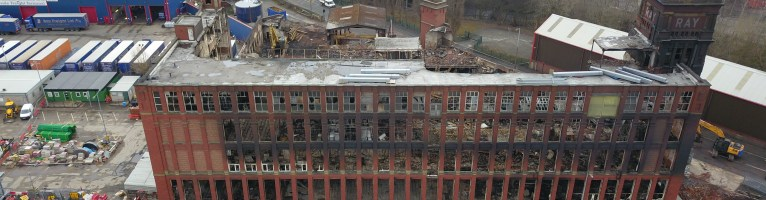 More footage of Ray Mill in Stalybridge for Lord Demolition.