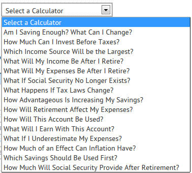 AOL Retirement Calculators